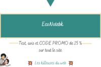 EcoNotebk : test, avis et CODE PROMO de 15 % sur tout le site